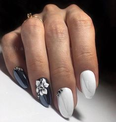Black Manicure, Nail Manicure, Nail Polish, Manicures, Fake Gel Nails, Couture Nails, Nail Art For Beginners, Minx Nails, Luxury Nails