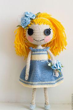 Купить Кукла-лалалупси. Блондинка в голубом - лалалупси, амигуруми, amigurumi, вязаная игрушка, Вязанная кукла