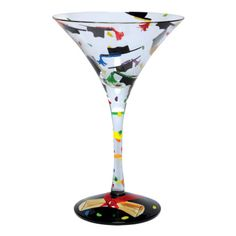 Graduation martini glass hand painted martini glass designs by