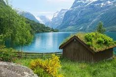 rustic log cabin by lake - Google Search