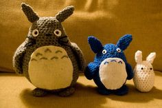 A Crochet Totoro and Friends by HookedHands on Etsy, $28.00