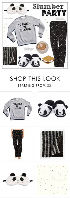 """Slumber Party with Pandas"" by pat912 ❤ liked on Polyvore featuring Life is good, P.J. Salvage, slumberparty and polyvoreeditorial"
