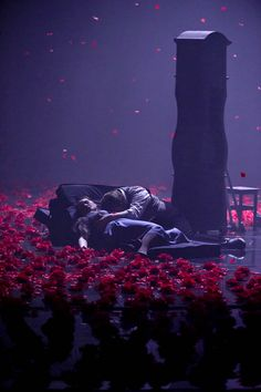 La boheme current production at Mikhailovsky Theatre- I really love the mood and bold gesture of this design- works well for minimalist production
