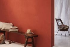 #Chaleureux #ocre #rouge À associer avec notre mobilier transparent et élégant sur www.davidlange.com