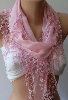 ON SALE /Pink /Cotton/ Traditional Turkish Fabric -Anatolian Shawl/Scarf.