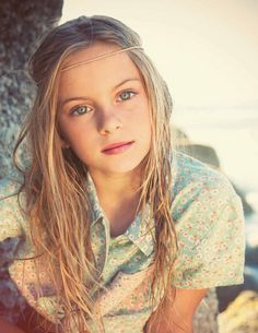 when you're nine and you're a model...