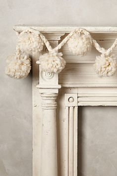 snowball garland #anthrofave #christmasdecor