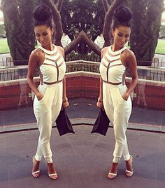 I want to be able to pull off a jumpsuit like this!