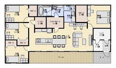 38坪ファミリークロゼットのある平屋の間取り図 | 平屋間取り House Layout Plans, House Layouts, House Plans, Neutral Bedrooms, Japanese House, Home And Living, Ideal Home, Floor Plans, House Design