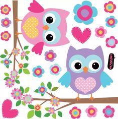 vinilo decorativo kit ramas y lechuzas. buhos Old Cd Crafts, Easy Crafts, Diy And Crafts, Owl Clip Art, Owl Applique, Funky Art, Owl Bird, School Decorations, Cute Owl