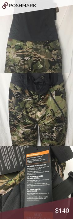 aa118ba575b7bc Under Armour Hunting Bib 1316697 Forest Camo Large Under Armour Brow Tine  Women's Large Cold Gear UA Brow Tine Bib Women's Hunting Pants Style Number  ...