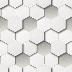 New Luxury Muriva Kinetic Honeycomb Hexagon Faux Leather Geometric Wallpaper Geometric Wallpaper Grey, Honeycomb Wallpaper, Cream Wallpaper, Modern Wallpaper, Wallpaper Roll, Designer Wallpaper, Buy Wallpaper Online, Retro Design, Modern Design