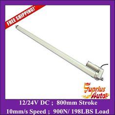 Electric Linear actuator 1000mm Stroke DC 12V 24V 900N//198lbs maximum