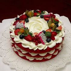 Most up-to-date Pic fruit cake regalo Concepts - yummy cake recipes Delicious Cake Recipes, Yummy Cakes, Dessert Recipes, Healthy Desserts, Bolos Naked Cake, Fresh Fruit Cake, Number Cakes, Drip Cakes, Love Cake