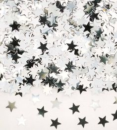 Silver | 銀 | Plata | Gin | Argento | Cеребро | Argent | Metal | Chrome | Metallic | Colour | Texture | Pattern | Style | Design |  star confetti