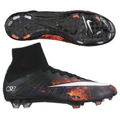 CAUTION! Your play will start burning up the field. The Nike Mercurial Superfly IV CR7 soccer cleats will help take your game to a new level. Featuring the CR7 Savage Beauty design, these cleats will help you look good as your destroy your opponent. Get all your Cristiano Ronaldo soccer cleats, shoes, and gear today at SoccerCorner.com!  http://www.soccercorner.com/Nike-Mercurial-SuperFly-IV-CR7-FG-Soccer-Cleats-p/sm-ni677927-018.htm