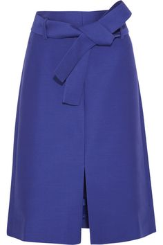 J.Crew | Collection wool and silk-blend faille skirt | NET-A-PORTER.COM