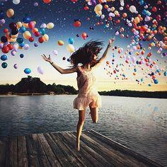 Ballonhimmel am See