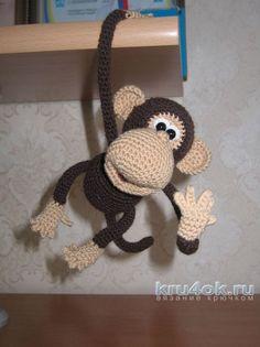 Вязаная крючком мартышка. Работа Маргариты вязание и схемы вязания