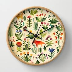 Garden Wall Clock, great happy clock for those late night feedings when you just need to know what time it really is!