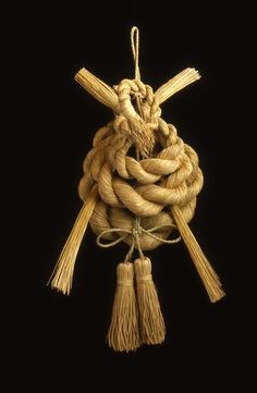締め飾り Decoration of straw rope