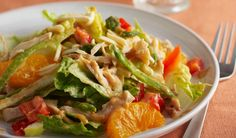 Asian chicken salad is an easy and delicious menu. Asian chicken salad is also a healthy practical menu by utilizing leftovers. In fact, this menu fits alm Indian Food Recipes, Asian Recipes, Vegetarian Recipes, Healthy Recipes, Asian Chicken Salads, Chicken Salad Recipes, Quick Healthy Meals, Easy Cooking, Asian Cooking