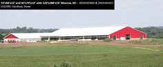 74'x66'x12' and 42'x70'x13' with 120'x288'x15' Cleary Dairy & Livestock Building in Monroe, WI | Colors: Cardinal, Snow,
