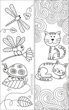 Here's a set of simple yet beautiful coloring bookmarks that would appeal to both kids and adults.Details:* The ZIP folder includes 1 pdf file a Cat Coloring Page, Coloring For Kids, Coloring Pages For Kids, Coloring Books, Simple Coloring Pages, Free Printable Bookmarks, Bookmarks Kids, Crochet Bookmarks, Bookmarks To Color