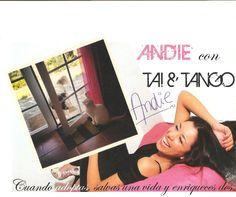 Andie, la cantante argentina con residencia en Madrid, ha mostrado su total colaboración en esta campaña en pro de las adopciones, enviándonos una fotografía de sus dos amores: Tai y Tango.
