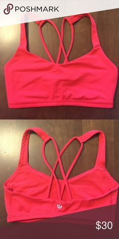 Lululemon Free To Be Bra Lululemon Free To Be sports bra in excellent condition!!! Color is an orange/red color lululemon athletica Intimates & Sleepwear Bras