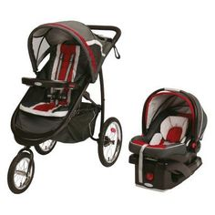 Graco Fast Action Jogger Click Connect 35 Elite Travel System - Chili Red - 1934924