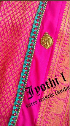 Saree Kuchu New Designs, Saree Tassels Designs, Bridal Blouse Designs, Mysore Silk Saree, Silk Sarees, Bridal Lehenga, Saree Wedding, Saree Dress, Sari