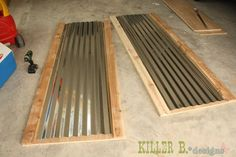 corrugated metal wood cabinet doors - Google Search