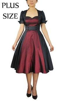 Chic Star Plus Size Retro Contrast Swing Dress