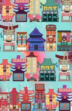 Japanese on Behance #kubraaslan #kubizm #japan #japanese #illustration
