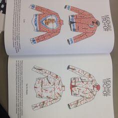 Technical drawings for Meadham Kichoff biker jackets -