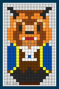 Beauty and the Beast Perler Bead Pattern
