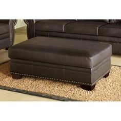 Encore Bonded Leather Storage Ottoman Color Brown by Wayfair 400