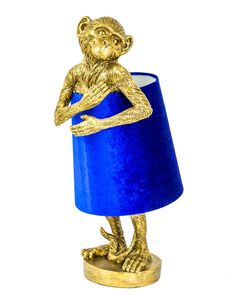 Antique Gold Bashful Monkey Table Lamp With Blue Velvet Shade , Antique Bashful Blue Gol. : Antique Gold Bashful Monkey Table Lamp With Blue Velvet Shade , Antique Bashful Blue Gold homeaccessoriesquirky Lamp Monkey shade Table Velvet Antique Gold Bash Unusual Table Lamps, Unusual Furniture, Unique Lamps, Pottery Barn, Gold Home Accessories, Accessories Online, Quirky Home Decor, Blue Velvet, Lights