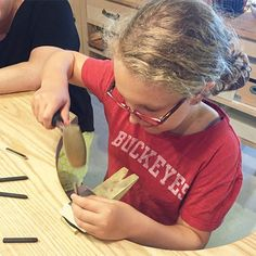 We forgot to post this picture of 11 year old Liv metal letter stamping like a pro! She was so good, mom had her stamp both of their projects! Look for more kids workshops in the future! #futuremetalsmith