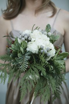 winter wedding bouquet @Tanarah Luxe Floral and Event Styling, @Emily Beaty