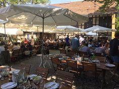 Restaurant Reithalle - Restaurant Reithalle Villa, Patio, Outdoor Decor, Home Decor, Ideas, Backyard Restaurant, Courtyard Gardens, Home And Garden, Horseback Riding