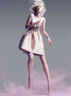 The Olivka Chrobot Marie Claire Australia Editorial is Fabulous #hair #coloredhair trendhunter.com