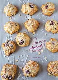 Cherry Almond Scones | tablefortwoblog.com #scones #cherry #almond