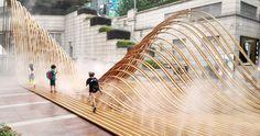 """Construido en 2015 en Shanghai, China. Imagenes por LYU Hengzhong, Shen Bo. Durante el período de 21-08-2015 a 10-09-2015, hubo una serie de actividades culturales públicas llamadas """"Campo de Gravedad - interconexiones entre... http://www.plataformaarquitectura.cl/cl/776188/paisaje-flexible-goa-architects?utm_source=dlvr.it&utm_medium=twitter"""