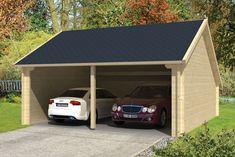 Garage Kapschuur vuren hout Tuindeco Nysse 600 x 600 x 330 cm