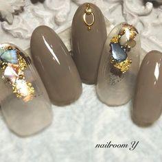 Colorful Nail Designs, Gel Nail Designs, Green Nails, Pink Nails, Trendy Nails, Cute Nails, Japan Nail, Les Nails, Japanese Nail Art