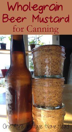 Wholegrain Beer Mustard for Canning