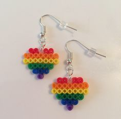 A personal favorite from my Etsy shop https://www.etsy.com/listing/537162613/rainbow-pride-perler-bead-earrings