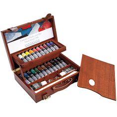 Sennelier Luxe Houten Kist - 22 tubes 40ml extra-fijne olieverf, hulpmiddelen & toebehoren - Schleiper - online catalogue